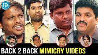 Best Mimicry Videos   Back 2 Back Mimicry Videos   Bithiri Sathi   Mimicry Raju   Siva Reddy