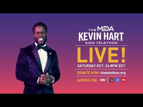 Kevin Hart Hosts the MDA Kids Telethon