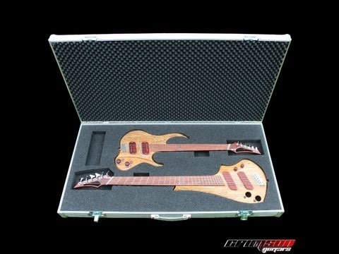 The Crimson Guitars detachable twin neck features video