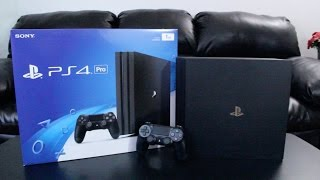 PlayStation 4 Pro Unboxing + First Boot Up