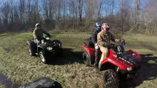 8. Waterworld: Featuring a 2011 Polaris Sportsman 500HO and a couple of Hondas