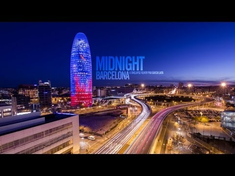Midnight Barcelona - 1080p HD Timelapse