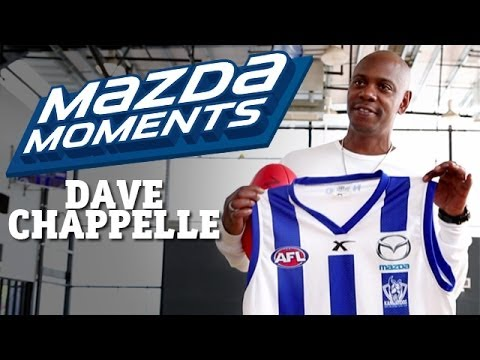 February 28, 2014 - Dave Chappelle visits North Melbourne