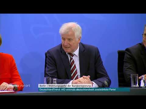 Pressekonferenz nach Wohngipfel der Bundesregierung a ...