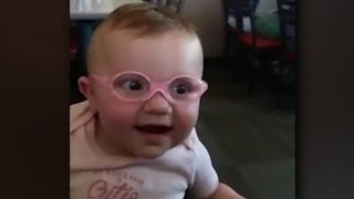 Viral General - Baby see her parent for the first time, her reaction is so lovely, big smile and smile :D