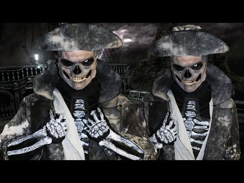 Ghost Pirate - Zombie/ Skeleton - Makeup Tutorial!