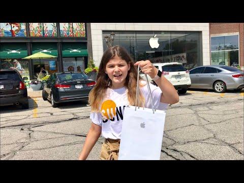 America Шоппинг в Apple Store! Дали наушники в подарок! iPad PRO и Apple Pencil Распаковка