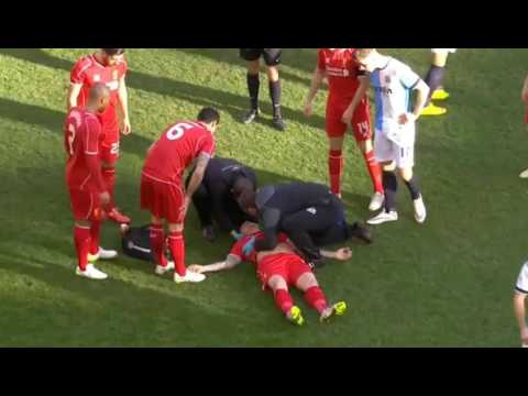 Martin Skrtel Horror Injury Liverpool Vs Blackburn FA CUP 2015 HD