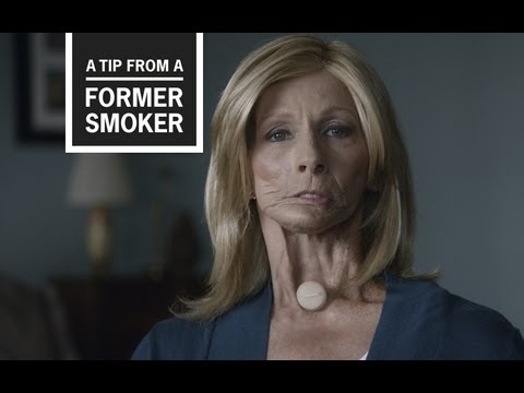 Terrie has cancer as a result of smoking. In last year's Tips From Former Smokers TV commercial, Terrie showed us how she got ready for her day. This year, Terrie shares that the only voice her grandson has ever heard is the one she now has because her voice box was removed before he was born. Her tip to smokers is to make a video or recording of yourself reading a children's storybook and singing a lullaby—before smoking affects your health.
