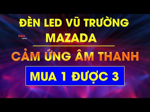Đèn LED MaZaDa 3 hiệu ứng LED Chớp Laser gắn phòng hát Karaoke VIP