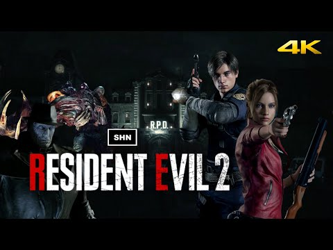Resident Evil 2 Remake | Leon A /Claire B | HARDCORE No HUD | 4K/60fps Game Movie No Commentary