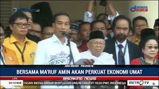 Video Pidato Jokowi Didampingi Ma'ruf Amin di Gedung Joang, Siap Daftar Ke KPU MP3, 3GP, MP4, WEBM, AVI, FLV April 2019