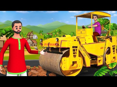 ரோட் ரோலர் டிரைவர் - Road Roller Driver Tamil Moral Story | Funny Short Stories Tamil Comedy Videos