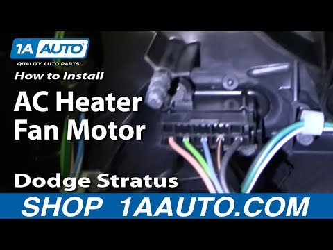How to Install Replace AC Heater Fan Motor Dodge Stratus 4 door 01-06 1AAuto.com