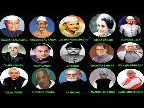 Indian Prime Ministers Details (1947-2014) || भारत के प्रधान मंत्री (1947-2014)