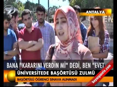 Akdeniz Üniversite'sinde bir yasakçı daha...Şeyma Adede mağdur edildi.