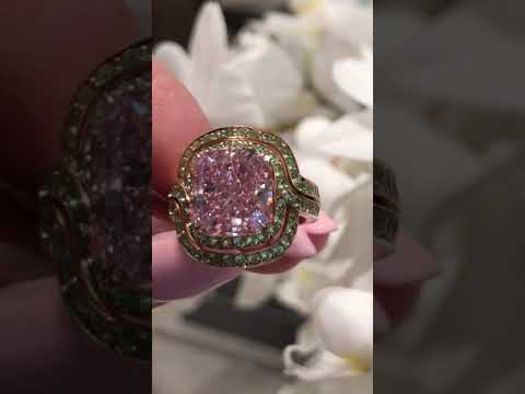 Amazing pink diamond ring!