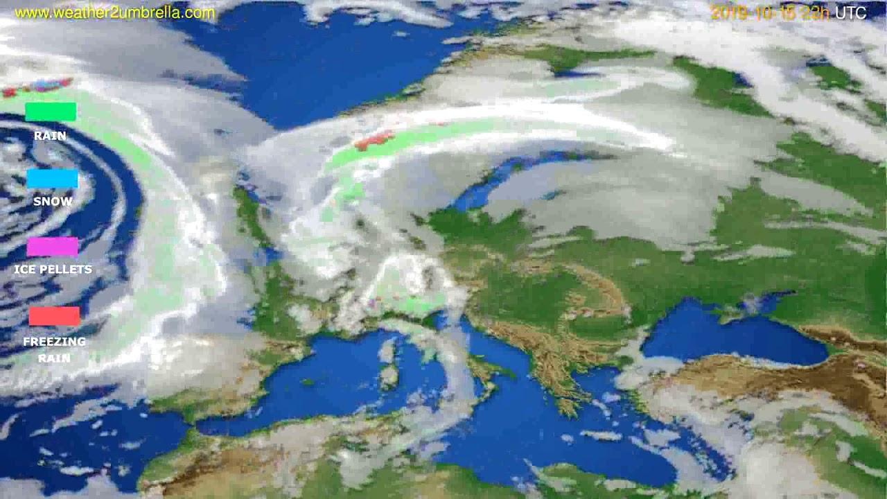 Precipitation forecast Europe // modelrun: 12h UTC 2019-10-13