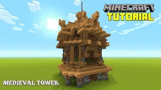 Minecraft: How To Build A Mage Tower | Survival Tutorial | (Easy Watchout Tower ) (Medieval) 2016