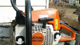 Repair of Stihl MS250 Chainsaw  PARTIAL ENGINE REBUILD - Part 1 of 4