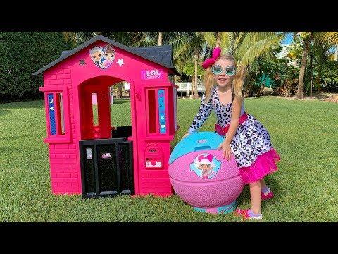 Настя и домик ЛОЛ для детей с сюрпризами