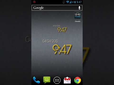 Video of ClockQ - Digital Clock Widget