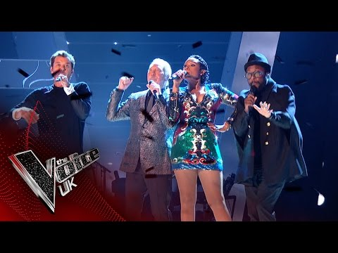 The Coaches perform 'Under Pressure' | The Voice UK 2017 (видео)