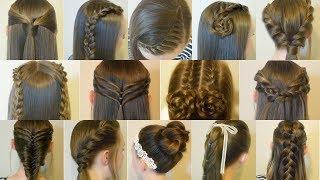 Video 14 Easy Hairstyles For School Compilation! 2 Weeks Of Heatless Hair Tutorials MP3, 3GP, MP4, WEBM, AVI, FLV September 2019