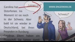Geschichten, die helfen Deutsch zu lernen. Geschichten zur Erweiterung des Wortschatzes. Niveau A1-A2 Mehr : https://goo.gl/cJpeDX Für Bücher: support@engerm...