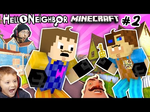 MINECRAFT HELLO NEIGHBOR & HIS BROTHER FIGHT 4 Basement Key |FGTEEV Scary Roleplay Games for Kids #2 (видео)