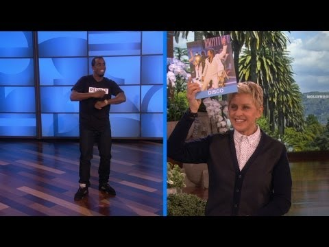 diddy - Ellen played a game with Diddy in which they had to guess the dance style. We think Diddy deserves a lot of street cred for this performance.