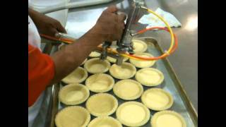 Mini Pie Production with SP-64 Depositor and Hand Held Spout
