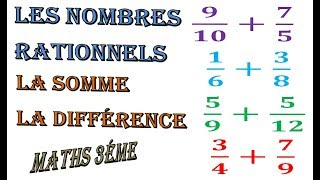 Maths 3ème - Les nombres rationnels Addition et Soustraction Exercice 35