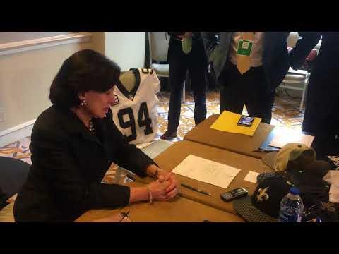 New Orleans Super Bowl 2024: Gayle Benson says 'we got it' (видео)