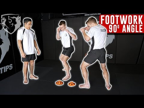 Footwork Drill to Create 90° Angle in a Fight