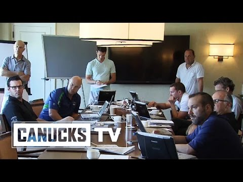 Canucks - Go behind-the-scenes as Canucks GM Jim Benning along with scouts and management discuss what they want in return for Ryan Kesler and how that will shape the 2014 NHL draft. Subscribe to the...