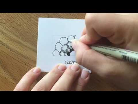 """Zentangle®  Muster: """"Floatfest"""" with Bunte Galerie"""