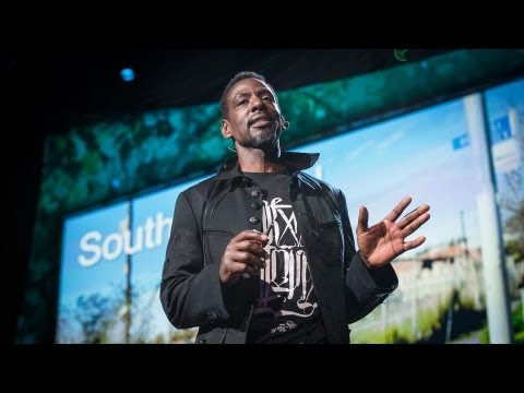 south - Ron Finley plants vegetable gardens in South Central LA -- in abandoned lots, traffic medians, along the curbs. Why? For fun, for defiance, for beauty and to...