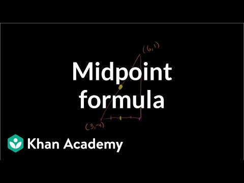 Midpoint Formula How To Find Midpoint Video Khan Academy
