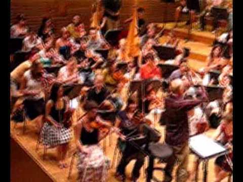 EUYO 2009 1st rehearsal Holst Planets & Shostakovich Leningrad Symphony!