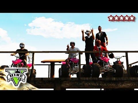גי.טי.אי - GTA 5 ATV JUMPS and STUNTS!! - Quad Bike Crew FreeRoaming GTA - Grand Theft Auto 5 ▻HikePlays - http://www.youtube.com/subscription_center?add_user=HikePlays ▻HikeTheGamer ...