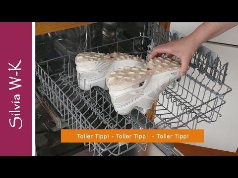 Turnschuhe, Sneakers reinigen - Strahlend weiß aus der Spülmaschine!
