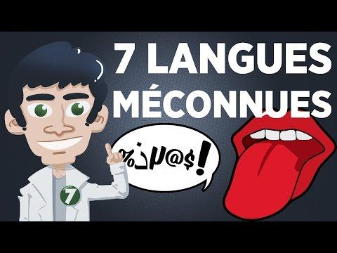 7 langues méconnues