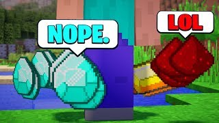 What if Items were IMPOSSIBLE to PICK UP in Minecraft