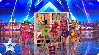 Video Cartoon Heroes come to life on our stage! | Auditions | BGT 2018 MP3, 3GP, MP4, WEBM, AVI, FLV Agustus 2018
