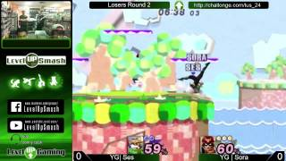 Level Up Smash won't be streaming tonight. Instead, have this ridiculous set from last week between Sora and Ses.
