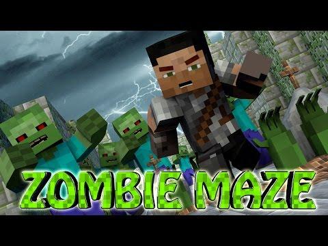 Minecraft | MAZE CHALLENGE SURVIVAL – ZOMBIE APOCALYPSE Challenge Part 10! (Zombies)