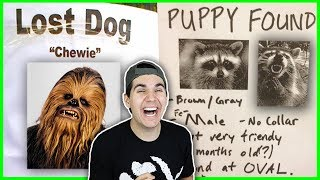 """Most Hilarious Missing Pet Posters Ever! Some of these will make you die laughing! I can't believe a missing pet poster could be so funny! Enjoy these Pet Poster Fails!Times Parents Owned Their Kids! ▶ https://www.youtube.com/watch?v=4qGIZUAYKhcSONG OF THE WEEK: Alessia Cara, Zedd - Stay (delgrosso remix) ▶ https://soundcloud.com/delgrossomusic/alessia-cara-zedd-stay-delgrosso-remixIF YOU SEE THIS COMMENT """"OH NO"""" 😂 IM COMMENTING BACK!FOLLOW ME ON:▶INSTAGRAM: https://instagram.com/christian/▶TWITTER: https://twitter.com/christiandSUBSCRIBE FOR MORE VIDEOS HERE! ▶ http://bit.ly/Subscribe2ChristianSUBSCRIBE TO KRISTEN HERE▶ http://bit.ly/2gA552j---------------------------------------------WHERE YOU CAN FIND ME:▶MUSICAL.LY: Christian.delgrosso▶SNAPCHAT: @Christiandelg▶FACEBOOK: https://www.facebook.com/ChristianDelgrossopage"""