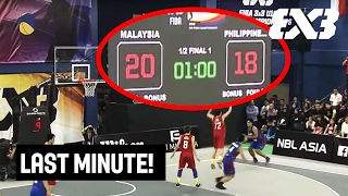 20:18 and only one minute to go! Check out if the Philippines can turn around the game or if Malaysia will make the final shot. We bring you a thrilling last minute ...