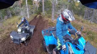 9. 2018 10 06 Polaris Sportsman 570 4x4 husqvarna 350fe enduro ride
